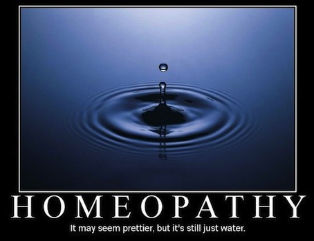 homeopathy is water