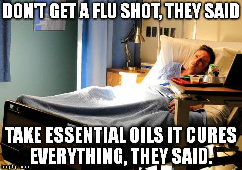 no flu shots use essential oils
